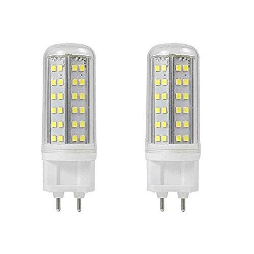YLJXXY 10W G12 LED Bombilla, 10W Equivalente 100w Halógena Lámpara, No Regulable 85V-265V Doble Pin LED Bombilla,Pack de 2,Warm White