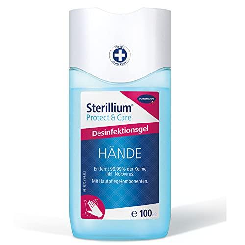 Sterillium Protect & Care Desinfektionsgel: Antibakterielles Hände-Desinfektionsmittel mit Pflege-Komponenten, 100 ml