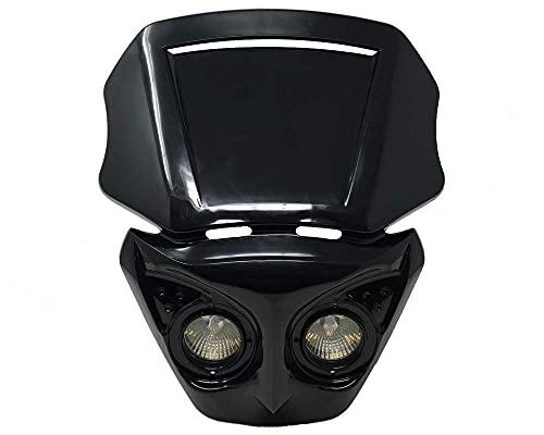 Motorrad Scheinwerfer Maske für Streetfighter oder Cafe Racer Projekt - Schwarz - 12V/20W