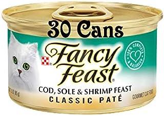 30 Cans of Purina Fancy Feast Classic Pate Cod, Sole & Shrimp Feast Wet Cat Food - 3 oz ea