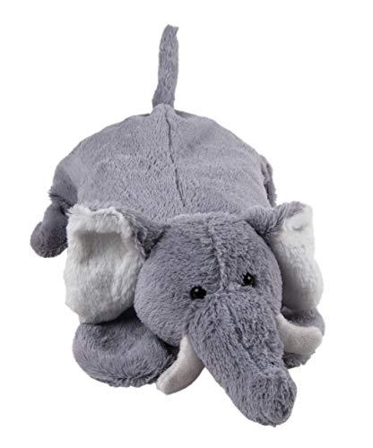 Wärmflasche Kinder XXL zum Kuscheln und Liebhaben 0,8 Liter (Elefant Taro 48 cm Grau)