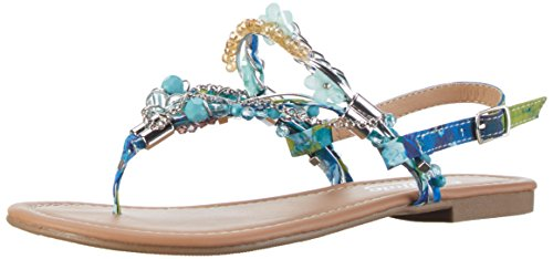 Buffalo Shoes Damen 313560 Zehentrenner, Blau (Blue 24), 39 EU