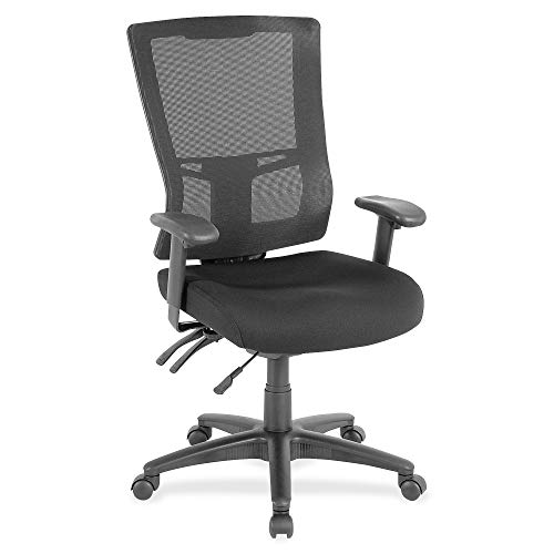 Lorell Mesh Hiback Executive Chair, Black