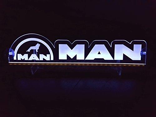 Other 24?V LED Light Neon Plaque pour Trucker Camion Blanc Illuminant Sign Accessoires de d?coration de Table Cabine Grav? au Laser 24?V/5?W
