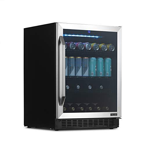 "NewAir FlipShelf 24"" Wine and Beverage Refrigerator Cooler, Reversible Shelves Hold 179 Cans or 49 Bottles - NWB180SS00"