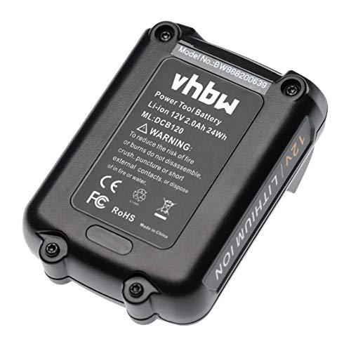 vhbw Batería compatible con Dewalt DCF815N, DCF815S2, DCHJ060, DCHJ060B, DCHJ060C1, DCHJ061, DCHJ061B herramientas eléctricas (24mAh Li-Ion 12V)