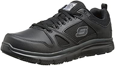 Skechers mens Flex Advantage Sr Work Shoe, Black, 10 Wide US