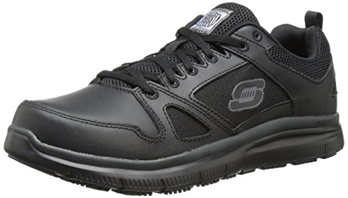 commercial Skechers Men's Work Shoes Flex Advantage Sr Black 12W USA most comfortable work shoes men
