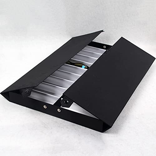 Caja de Almacenamiento de Joyas Caja de luz Gafas de Almacenamiento Mueble de exhibición 18 PCS Gafas de Sol Organizador Eyewear Pantalla Caja de Almacenamiento Bandeja