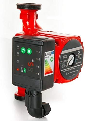 SUCCSALE- Hochwertige Hocheffizienzpumpe Umwälzpumpe Heizungspumpe 25-60 130 elektronisch 6 Meter Förderhöhe - geregelte Zirkulationspumpe [Energieklasse A]