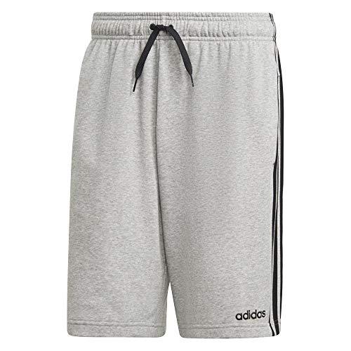 adidas Herren Essentials 3-Streifen Shorts, Medium Grey Heather, L