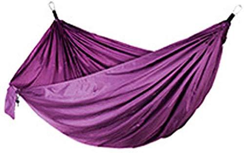 YSCYLY Camping Hangmat, Dubbele Nylon Hangmat Met Riemen 270 * 140cm,Voor Outdoor Wandelen Reizen Rugzak