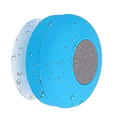 RBNANA Bluetooth Shower Speaker, Portable Wireless Shower Speaker with Suction Cup Built-in Mic, Waterproof Bluetooth Speaker for Bathroom, Beach, Outdoor, Blue by RBNANA