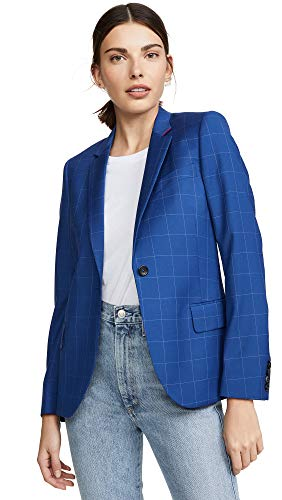 Paul Smith Women's Blue Blazer, Blue, 38