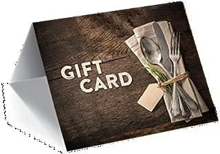 Gift Card Presenter (Rustic Dinnerware) 100 Pack