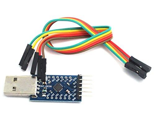WINGONEER CP2104 convertisseur série USB 2.0 Pour TTL UART Module 6PIN compatible avec et mieux que CP2102