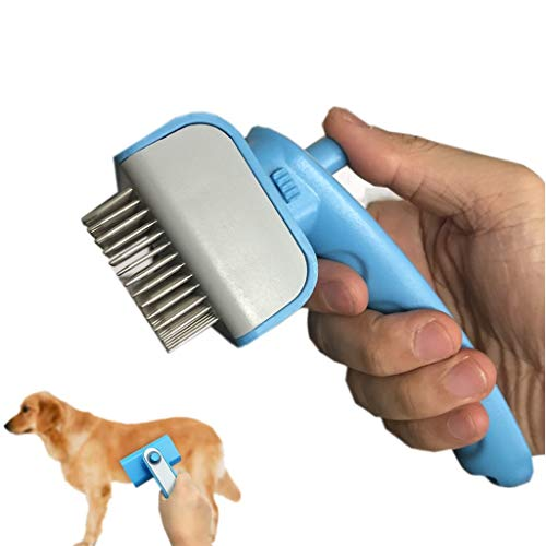Pet Grooming Tools Small Large Dog Brushes For Long Haired Dog,Easy Remove Pet Hair,Stop Tangle,Cat Brush Stainless Steel Brush