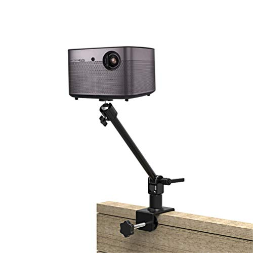 BGLMX Mini Projector Mount Bracket for Projectors CCTV DVR Cameras LCD/DLP Video Projection Device, Bedside Clip Stand Holder, 360° Swivels & Tilts Arm, 3KG Load Mounting Bracket,28cm/11''