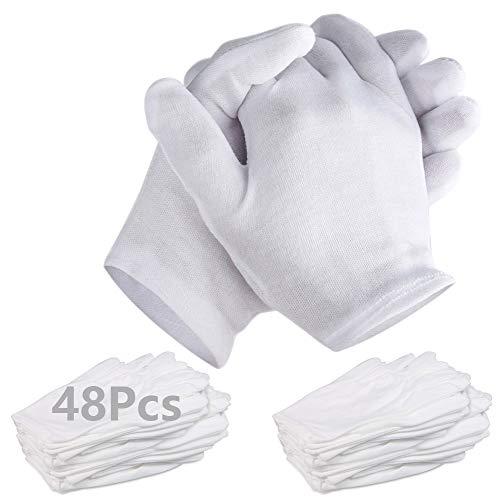 ANDERK 24 Paar Erwachsene Uniform Handschuhe Spandex Handschuhe Kleid Baumwollhandschuhe Handschuh für Polizei