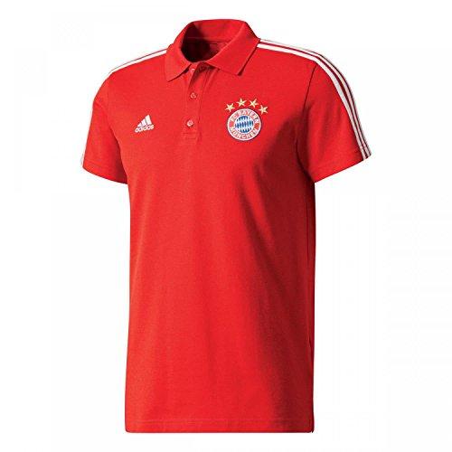 adidas FCB 3S Polo, Hombre, Rojo (rojfcb/Blanco), S