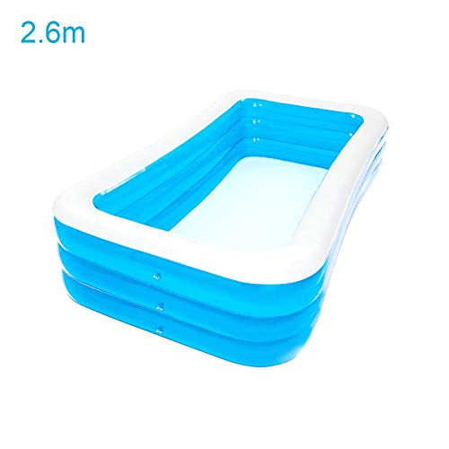 Inflatable Pool Oversize 1-8 Peoples PVC Thickened Abrasion Resistant Swimming Pool Family Interaction Summer Water Party Swimming Pool for Kids Adults Swimming Pools for Garden,Backyard, Outdoor