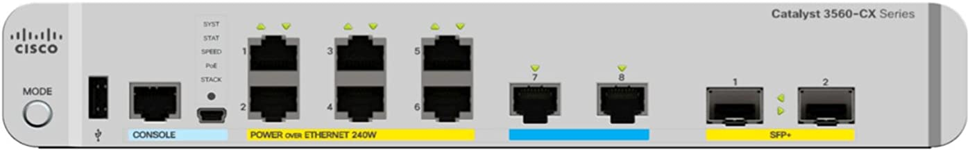 Cisco 3560-CX Switch 6 GE PoE+, 2 MultiGE PoE+, uplinks: 2 x 10G SFP+, IP Base