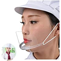 50-Pack Aihan Transparent Plastic Anti-Fog Mouth Shield
