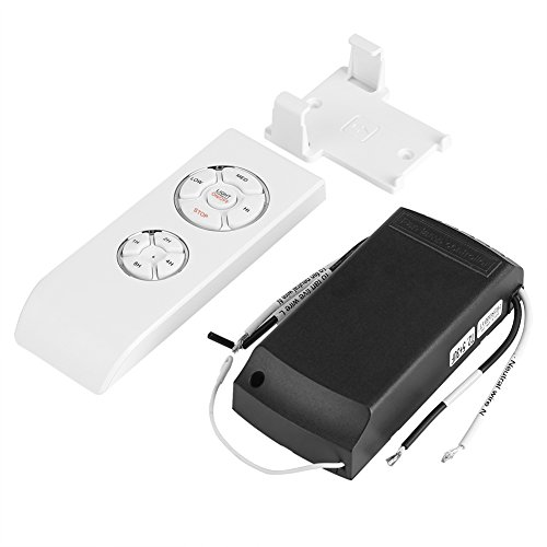 Raguso Control Remoto de Ventilador de Mano, 4 Tiempos 3 velocidades Universal Lámpara de Ventilador Colgante de Techo Kit de Control Remoto inalámbrico para Oficina en casa