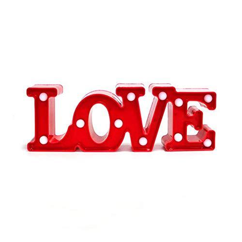 Ruiting Veilleuse LED Love,Lampe LED Ambiance Lumière Romantique pour Décoration Chambre Cadeau Noël Anniversaire Lampe de Chevet Love