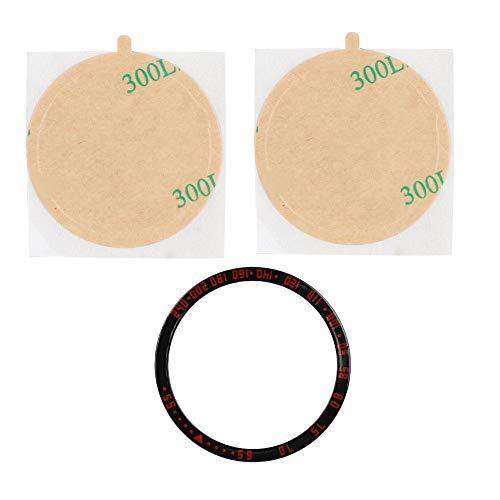 Cosiki Bisel de Esfera, protección de Reloj, Duradero para Galaxy Watch de 42 mm(Black Red)