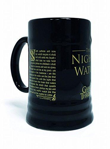 1art1 Game of Thrones - Der Eid Der Nachtwache, Humpen Stein Krug 600 ml Foto-Tasse Kaffeetasse 14 x 8 cm