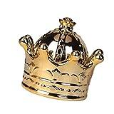 Holibanna Joyero con diseño de corona antigua, caja de joyería vintage, anillo y pendientes, caja del tesoro, organizador para cumpleaños, mujer y niña