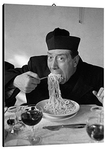 Bild Mangiaspaghetti cod. 56 Don Camillo cm 35x50 Druck auf Leinwand Das gemälde ist fertig zum aufhängen Il Negozio di Alex