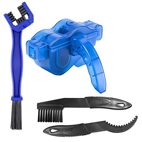 JTENG Fahrrad Kettenreinigungsgerät Kit Fahrradkettenreiniger Reinigung Scrubber Pinsel-Werkzeug Ketten Reinigung Gerät Maintenance ,Geeignet für alle Arten von Fahrrädern