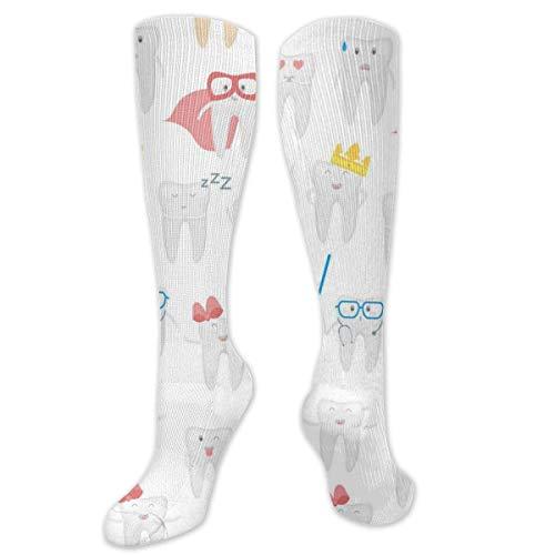 zhouyongz Herren-Socken mit Cartoon-Zahn-Motiv, bunt, modisch, bunt, aus Baumwolle