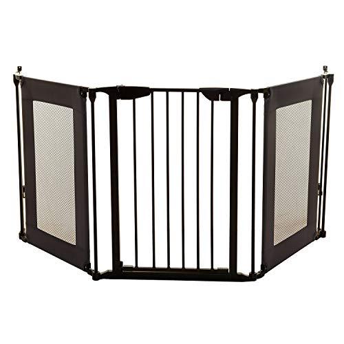 Dreambaby Barrera de Seguridad 3 Paneles Denver Adapta-Gate, Negra, F2060Bb, Negro, 85.5-210 cm