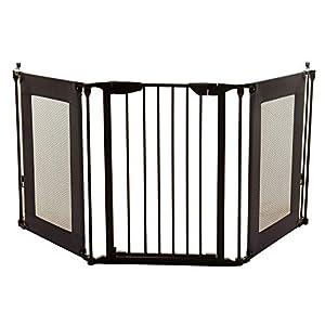 Dreambaby Barrera de Seguridad 3 paneles Denver Adapta-Gate (85.5cm - 210cm), negra