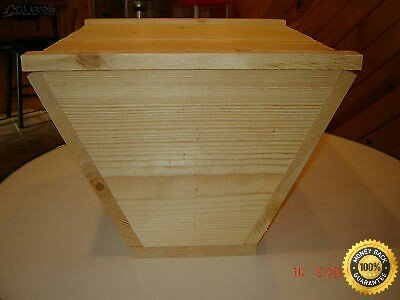 COLIBROX Top Bar Bee Hive with 12 Top Bars Backyard Bee Keeping Hive...