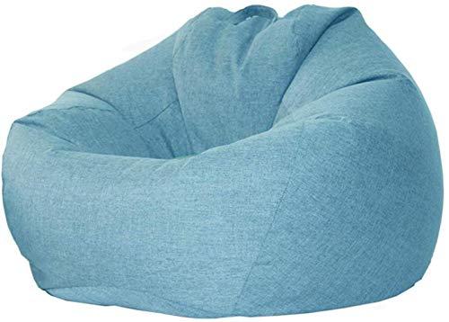 LHY- Lumière Canapé, Petit Appartement Lazy Sofa Bean Bag, Tatami Importé PPE Recliner Doux (Color : Blue, Size : 95×110cm)