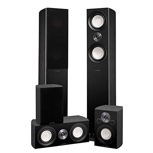 Best Prices! Fluance Reference Surround Sound Home Theater 5.0 Channel Speaker System Including 3-Wa...