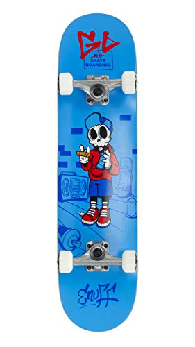 Enuff Blue Skully - 7.75 Inch Skateboard Complete (Default, Blue)