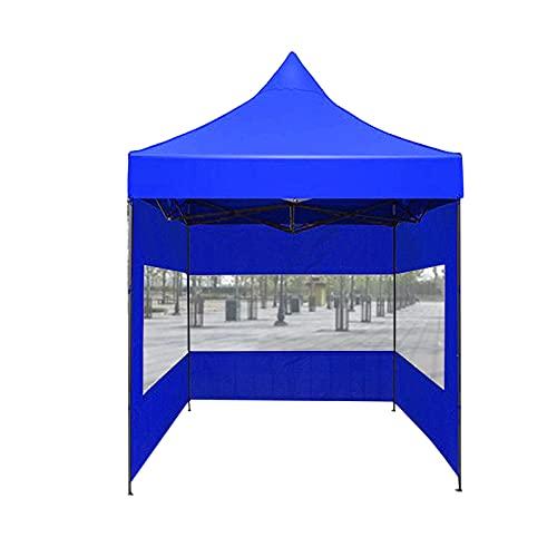 2m Outdoor Garden Patio Cenadores Shelter, Mercado De Pulgas Tienda Comercial Tienda Boda Partido Toldo Protección Solar Impermeable Fácil De Ensamblar Tienda(Size:2 * 2M,Color:Azul)