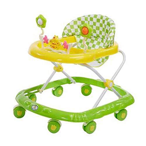 Baby Walker für Jungen und Mädchen mit Aktivität, Faltbarer Aktivitäts-Walker-Helfer mit gepolstertem Sitz mit hoher Rückenlehne und Einstellbarer Höhe