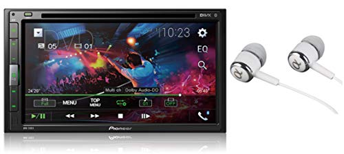 Pioneer AVH-310EX 6.8' Double DIN Touchscreen Display, Apple iPhone and Android Music Support, Bluetooth In-Dash DVD/CD AM/FM Front USB Digital Multimedia Car Stereo Receiver /Free Alphasonik Earbuds