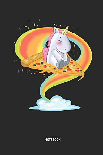 Einhorn | Notizbuch: Einhorn reitet auf einer fliegenden Pizza - Liniertes Notizbuch & Schreibheft für Frauen, Mädchen und alle die Einhörner lieben. Tolle Geschenk Idee für alle Einhorn Freunde.
