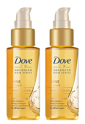 Dove Shine Revived Nourishing Oil for All Hair Types, 1.7 Ounce (Pack of 2)