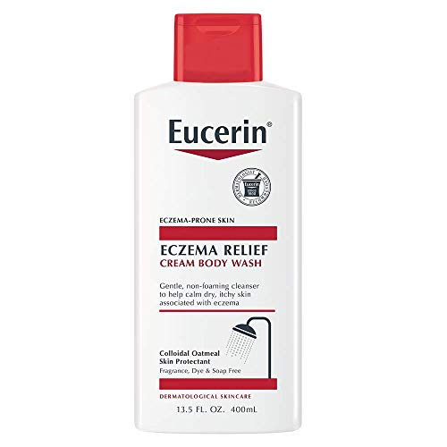 Eucerin Eczema Relief Cream Body Wash Gentle Cleanser for Eczema-prone Skin, 13.5 Fl Oz