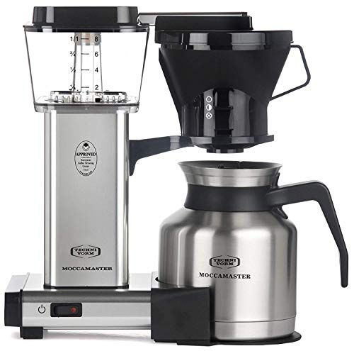 Technivorm Moccamaster 32oz 8-Cup Thermal Carafe Coffee Brewer Handmade Coffee Maker - KBTS - Polished Silver