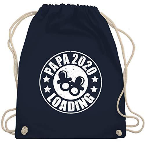 Shirtracer Vatertagsgeschenk - Papa 2020 loading mit Schnullern - weiß - Unisize - Navy Blau - Geschenk - WM110 - Turnbeutel und Stoffbeutel aus Baumwolle