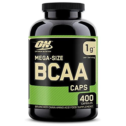 Optimum Nutrition BCAA 1000, Cápsulas BCAA, Suplementos Deportivos, Rico en Aminoacidos Ramificados y Esenciales, para Mejor Recuperación, Sin Sabor, 200 Porciones, 400 Cápsulas